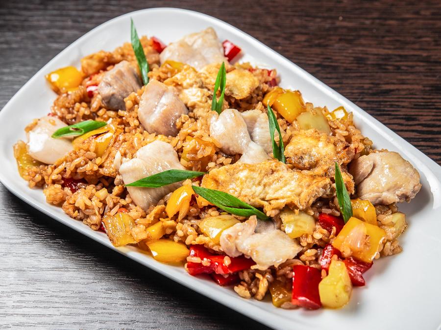 Теппаньяки Рис с курицей