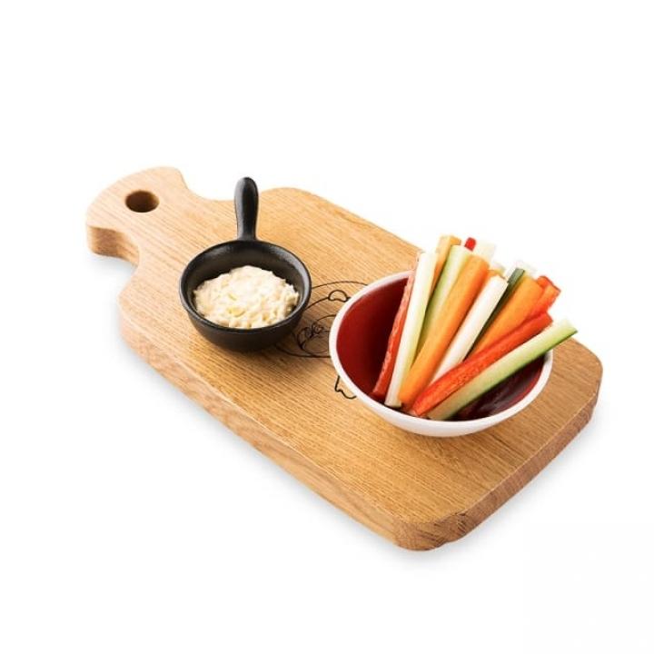 Овощная закуска с сырным соусом