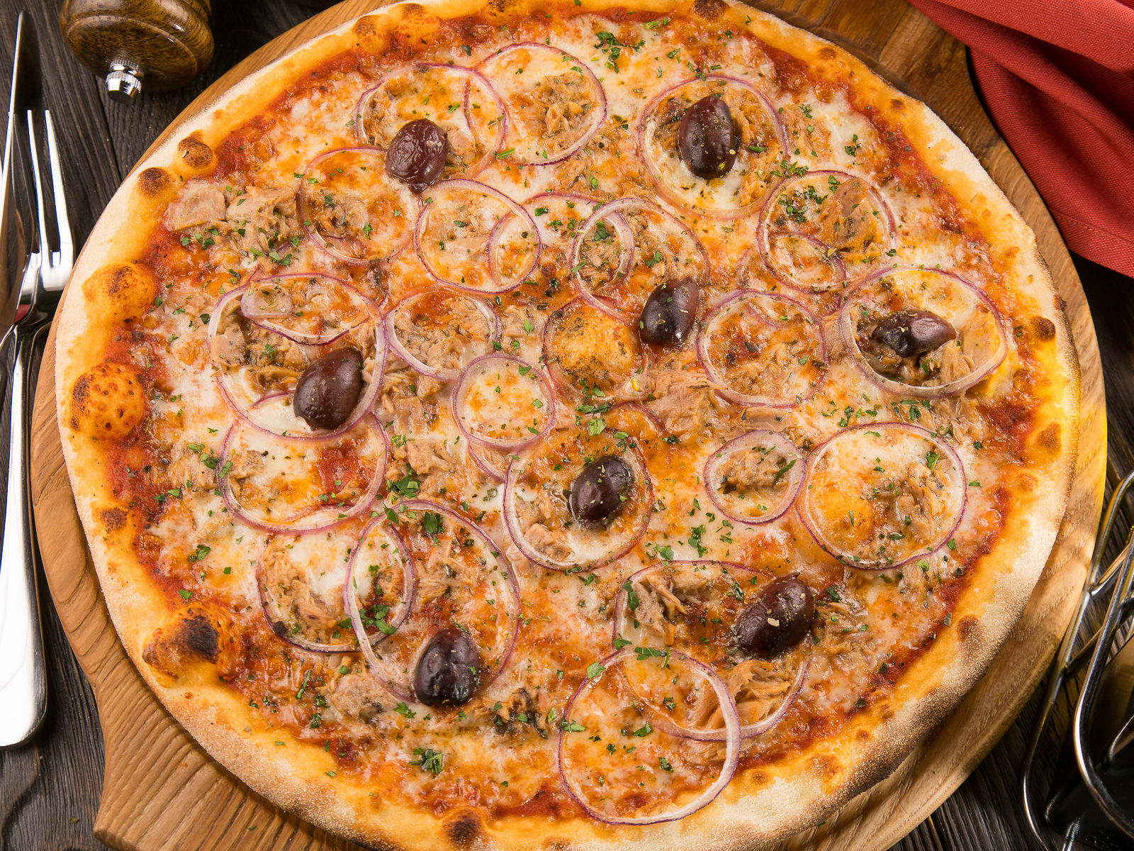 Пицца с Тунцом в масле