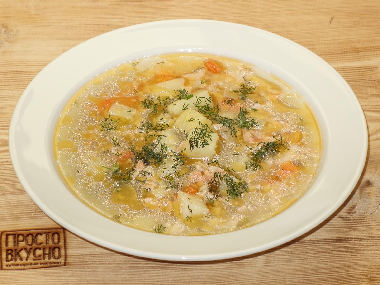 Суп из радужной форели