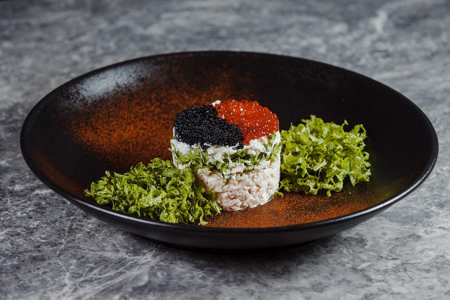 Салат из нежных морепродуктов