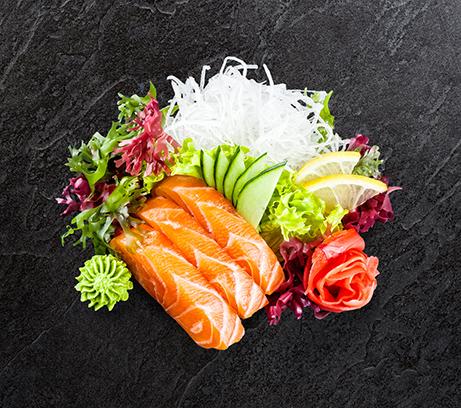 Сашими копченый лосось