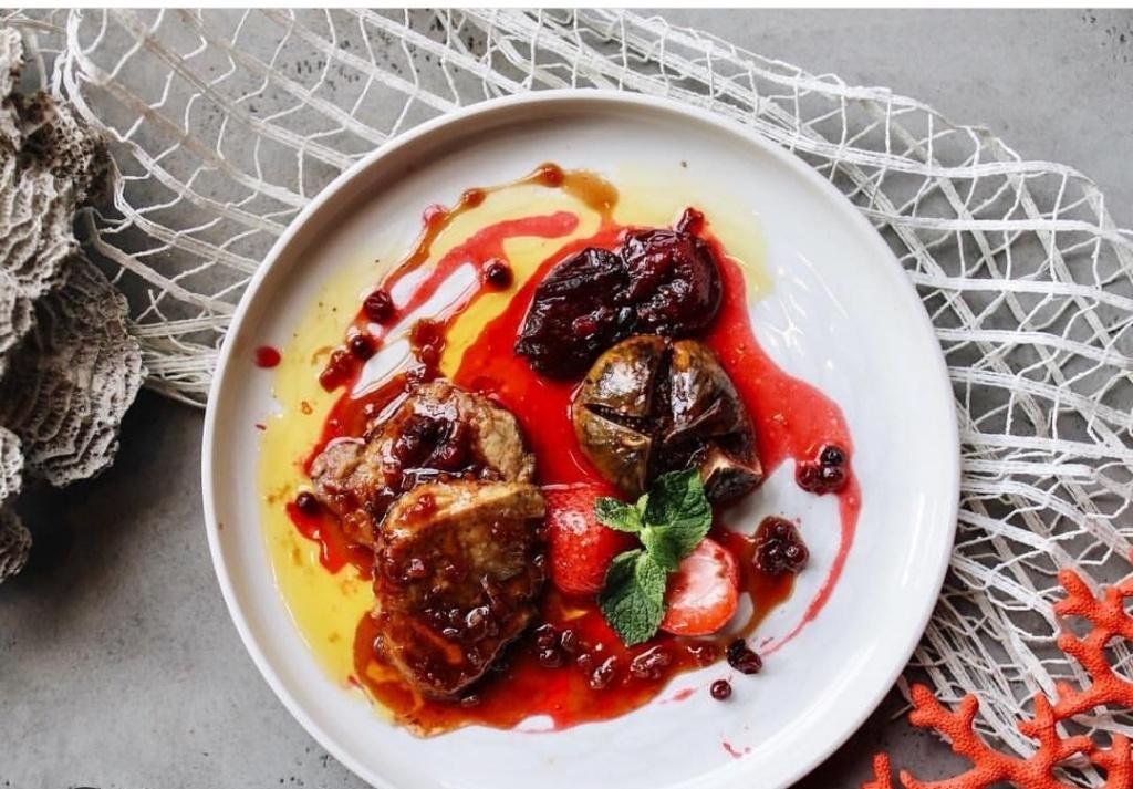 Фуа-гра с имбирным соусом