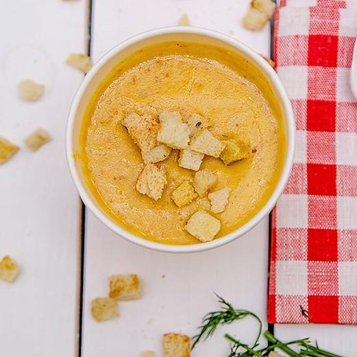 Крем-суп гороховый со свиными ребрами