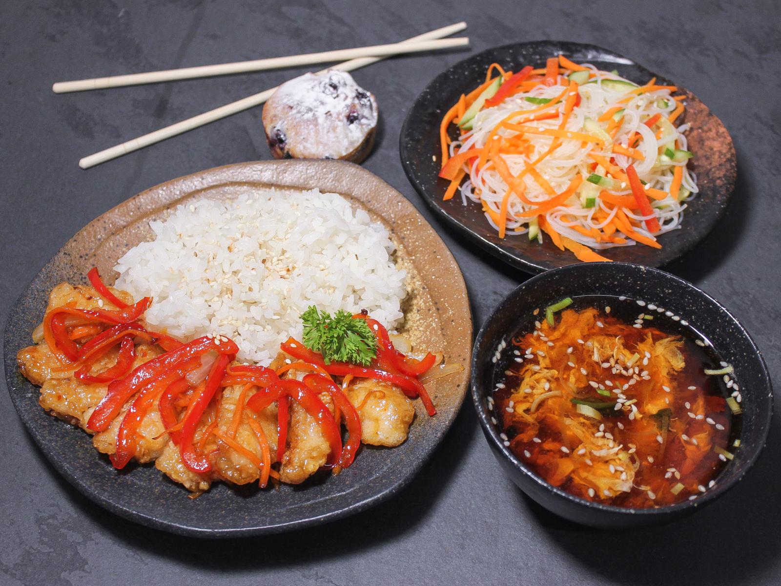 Бенто-ланч №3 с супом кимчи