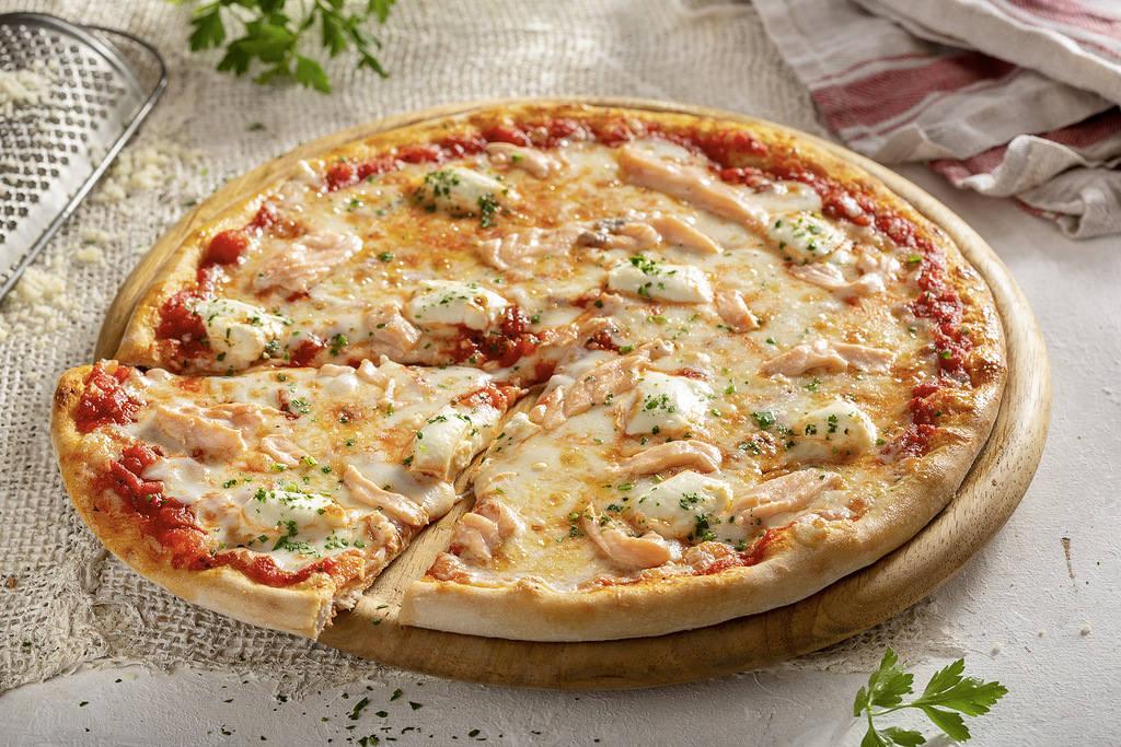 Пицца Аль Сальмоне 28 см, на тонком тесте