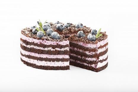 Черничный торт с шоколадным бисквитом