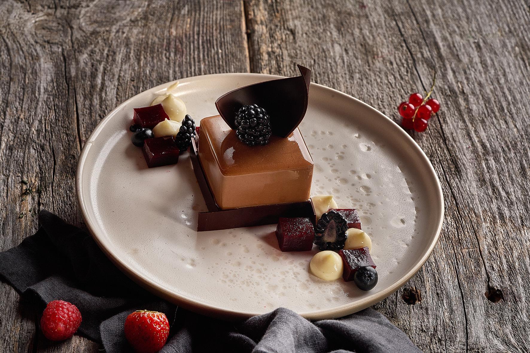Ежевика в шоколаде
