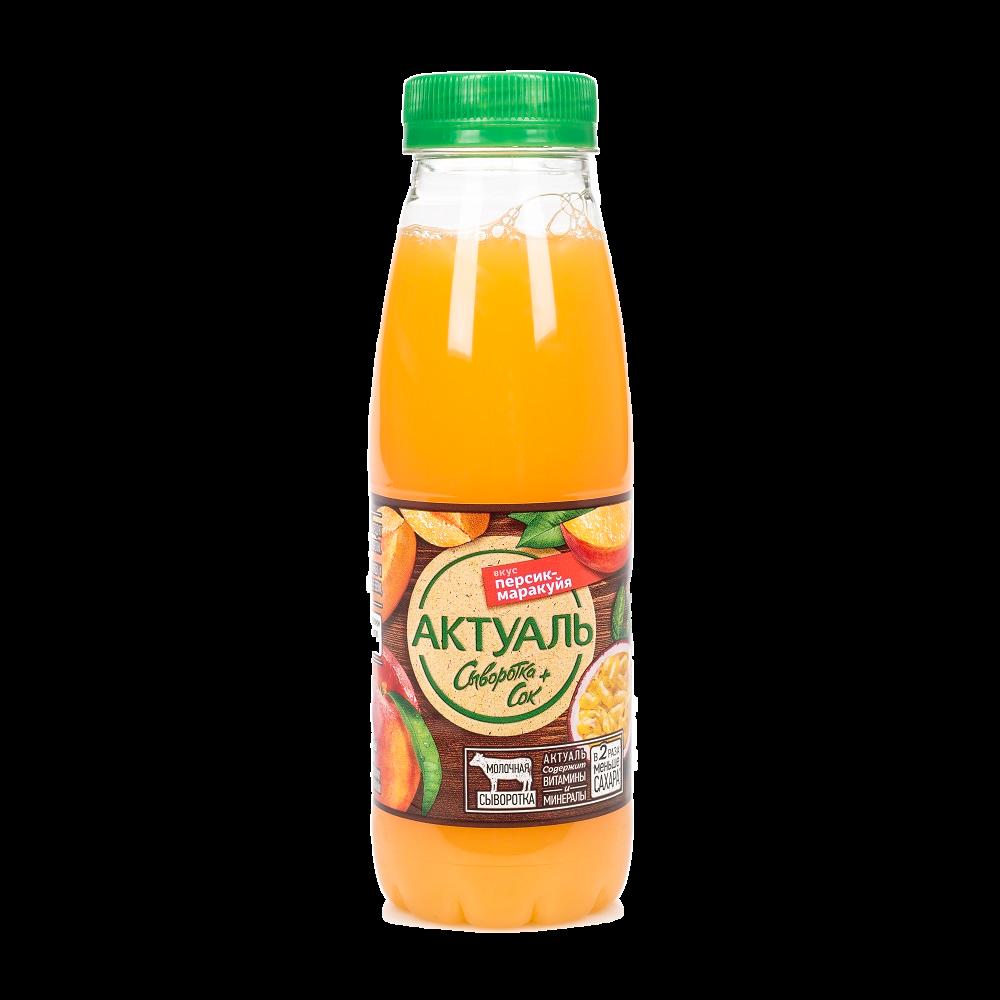 Напиток сывороточный Актуаль персик-маракуйя