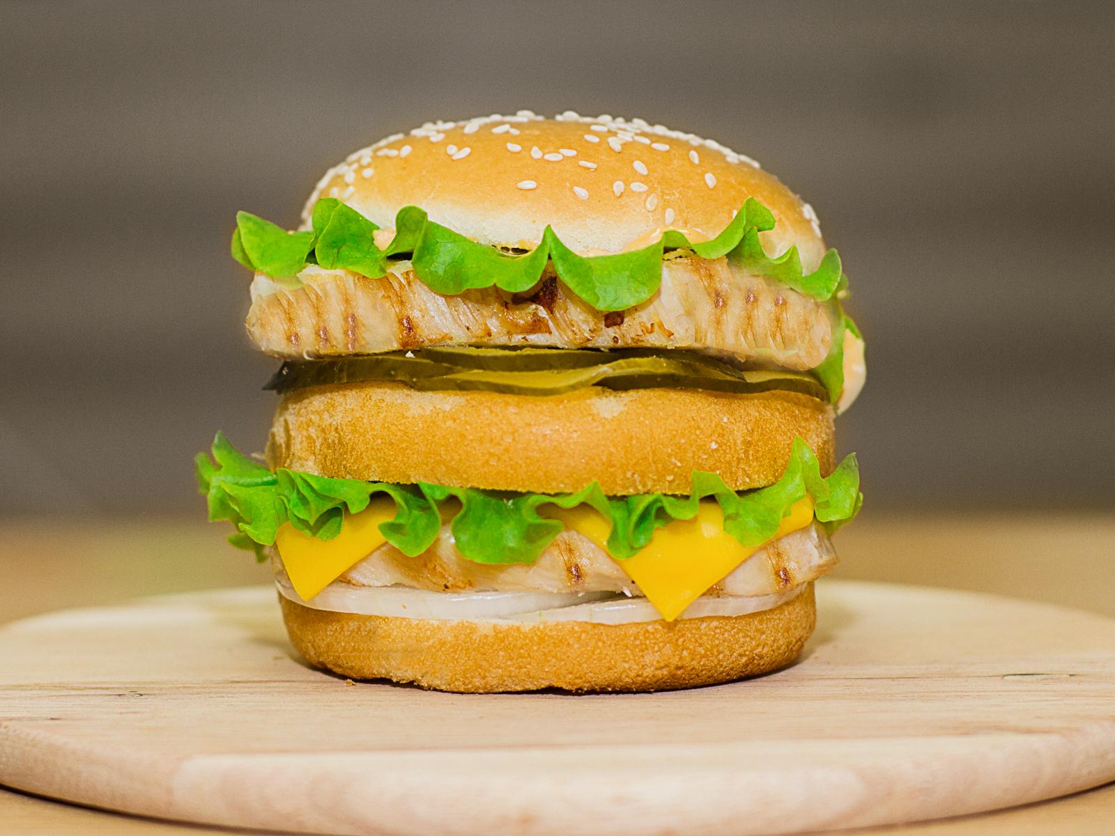 Двойной Бургер куриный