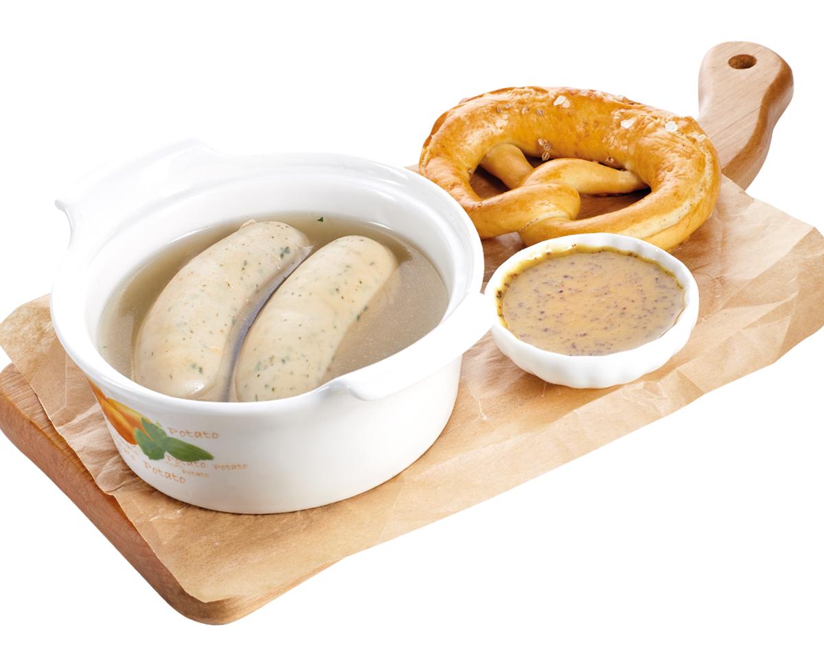 Мюнхенские колбаски в бульоне