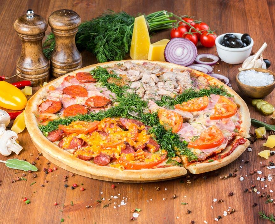 Пицца Великолепная четверка фирменная