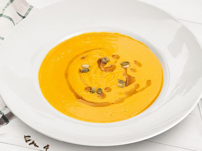 Тыквенный крем-суп с семечками