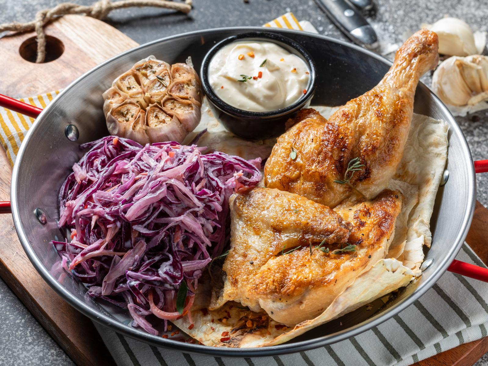 Цыпленок в чесночном маринаде