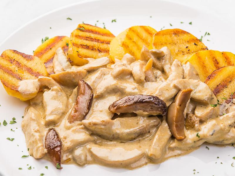 Funghi e patate al verde