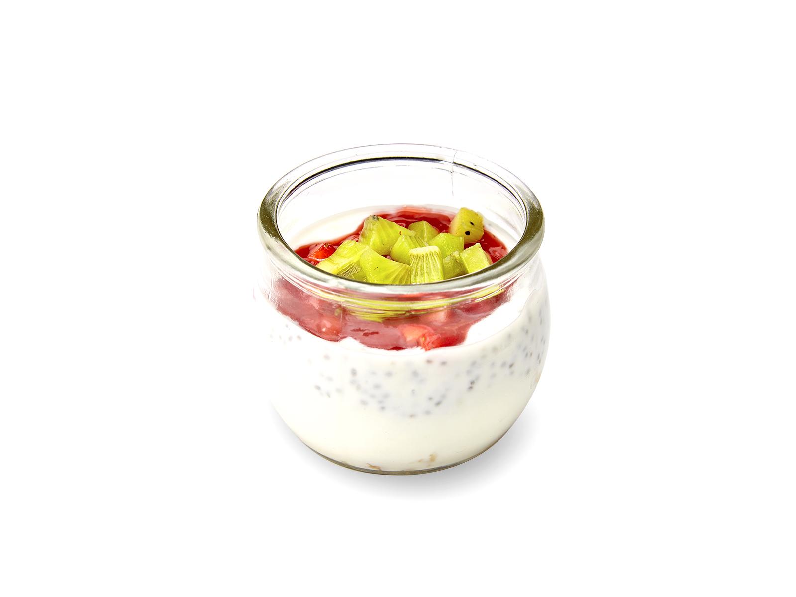 Домашний йогурт с клубникой