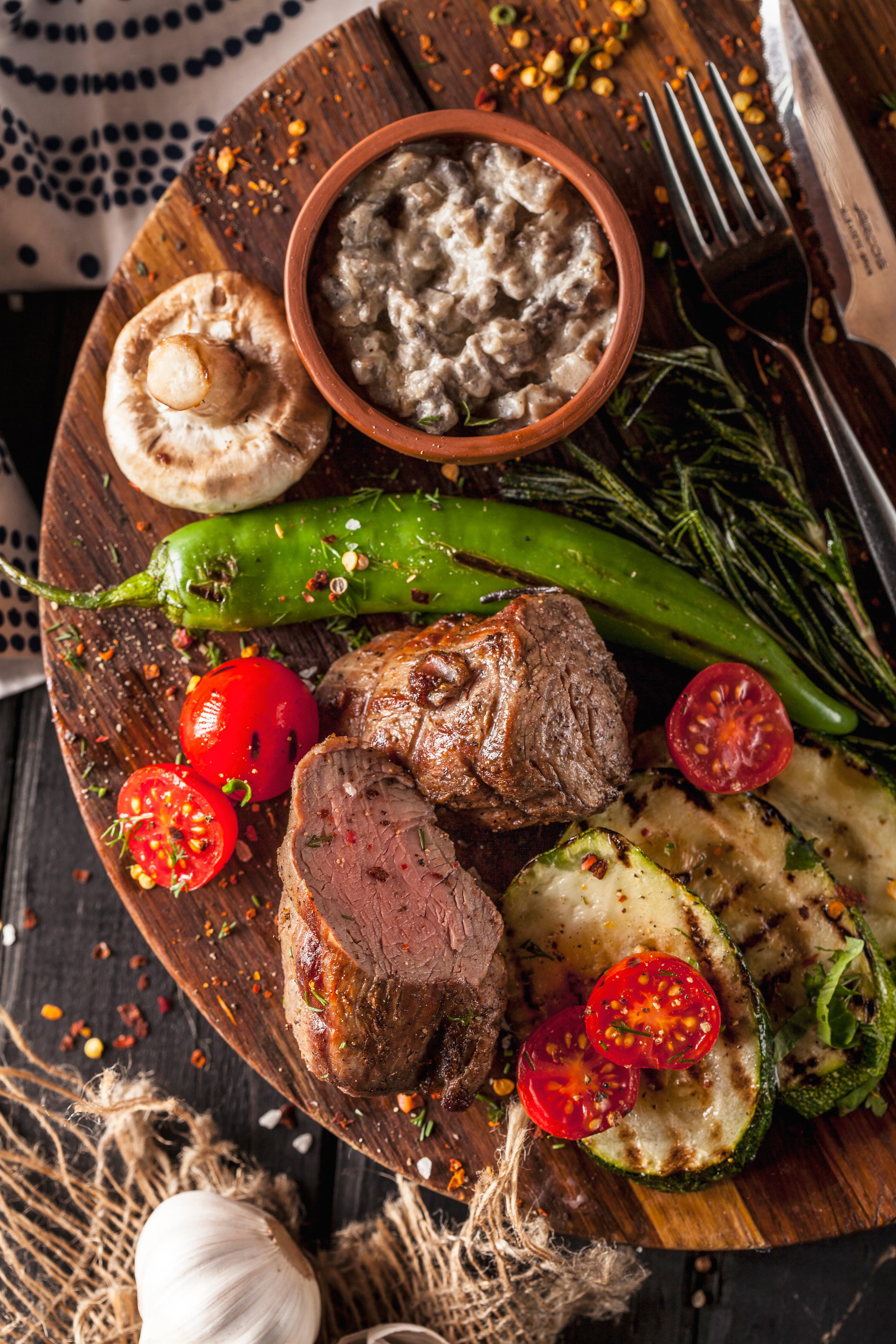 Телячья вырезка с овощами