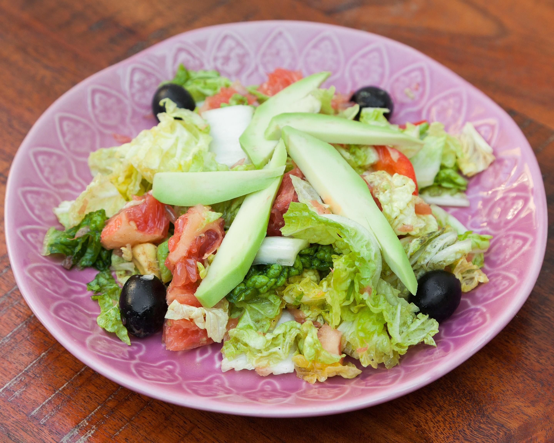 Салат авокадо с грейпфрутом