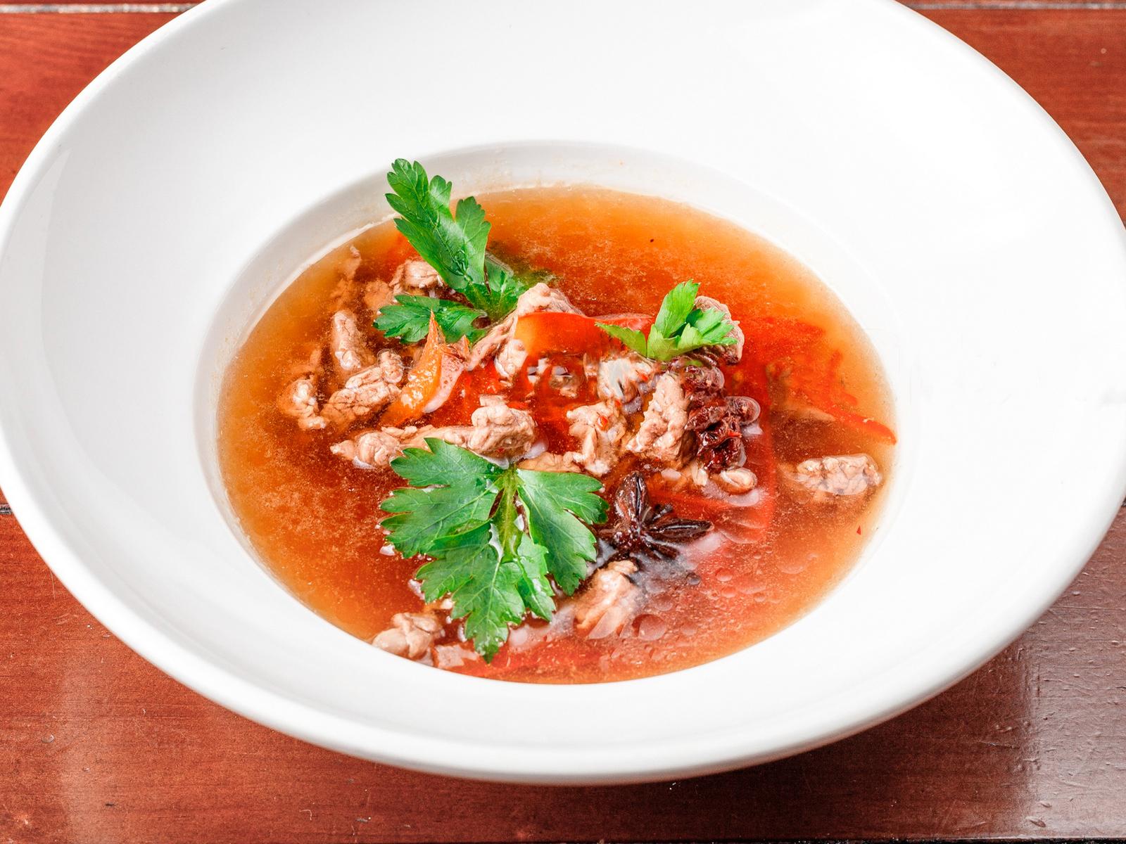 Пряный суп из говядины