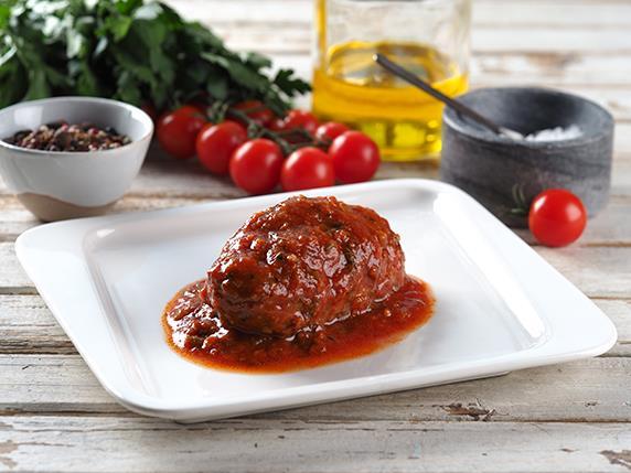 Котлета мясная в томатном соусе