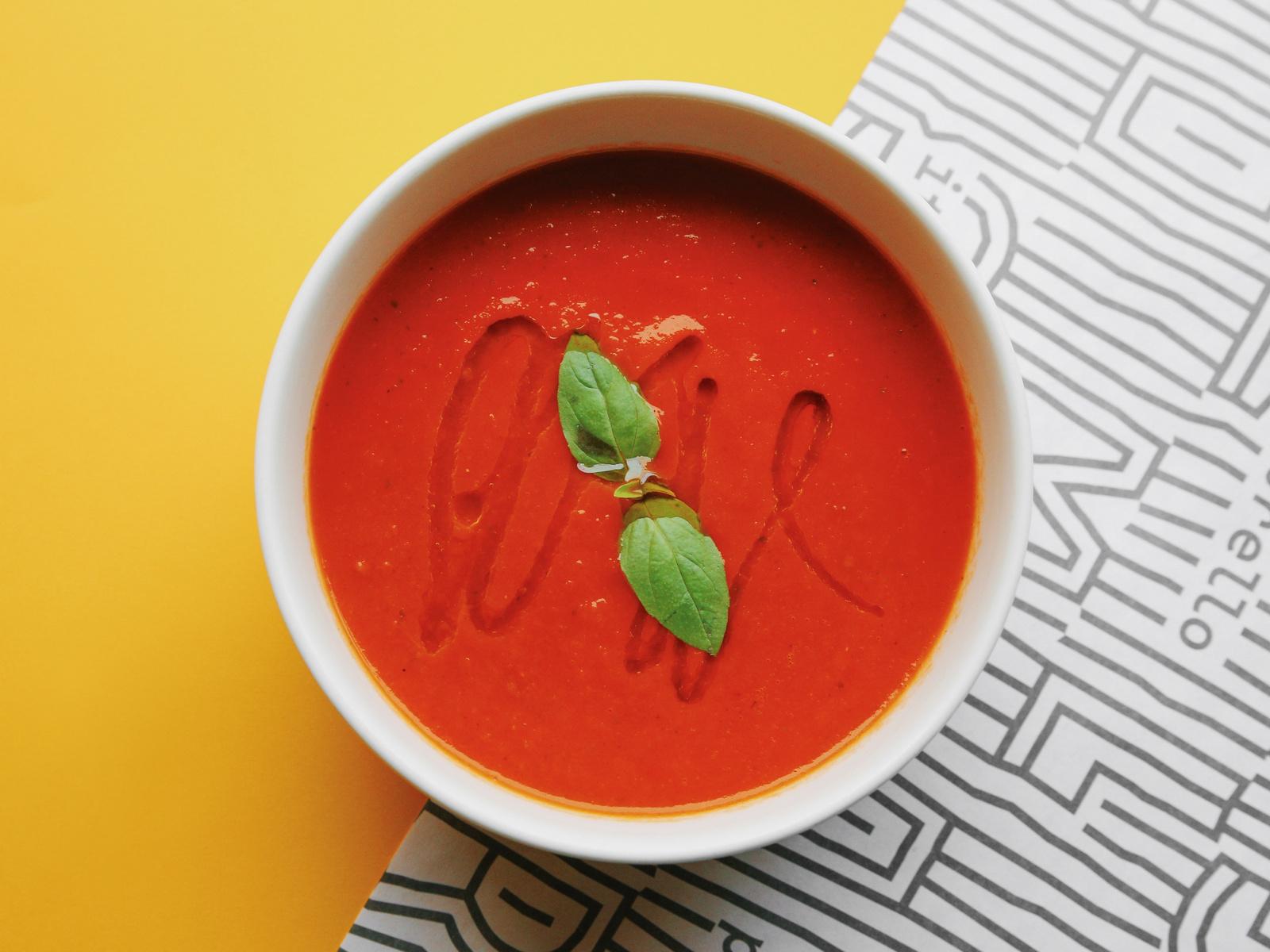 Суп из запеченных томатов