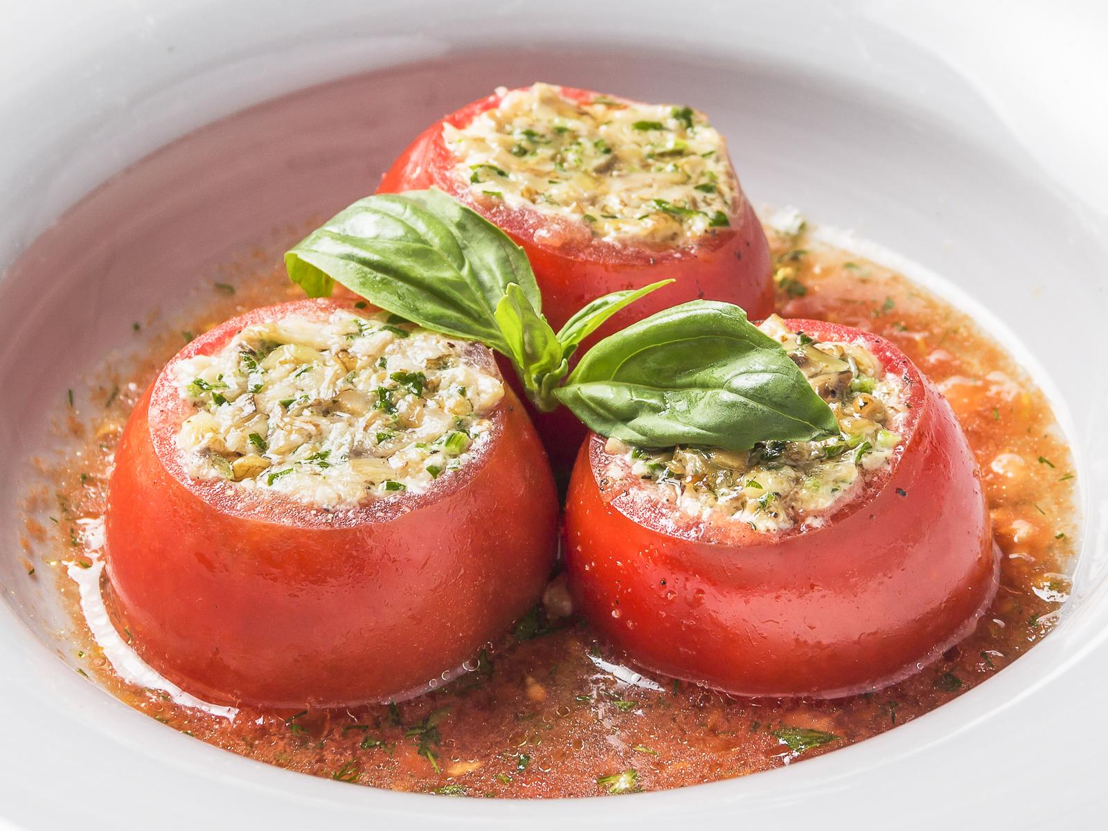 Бакинские томаты с шампиньонами