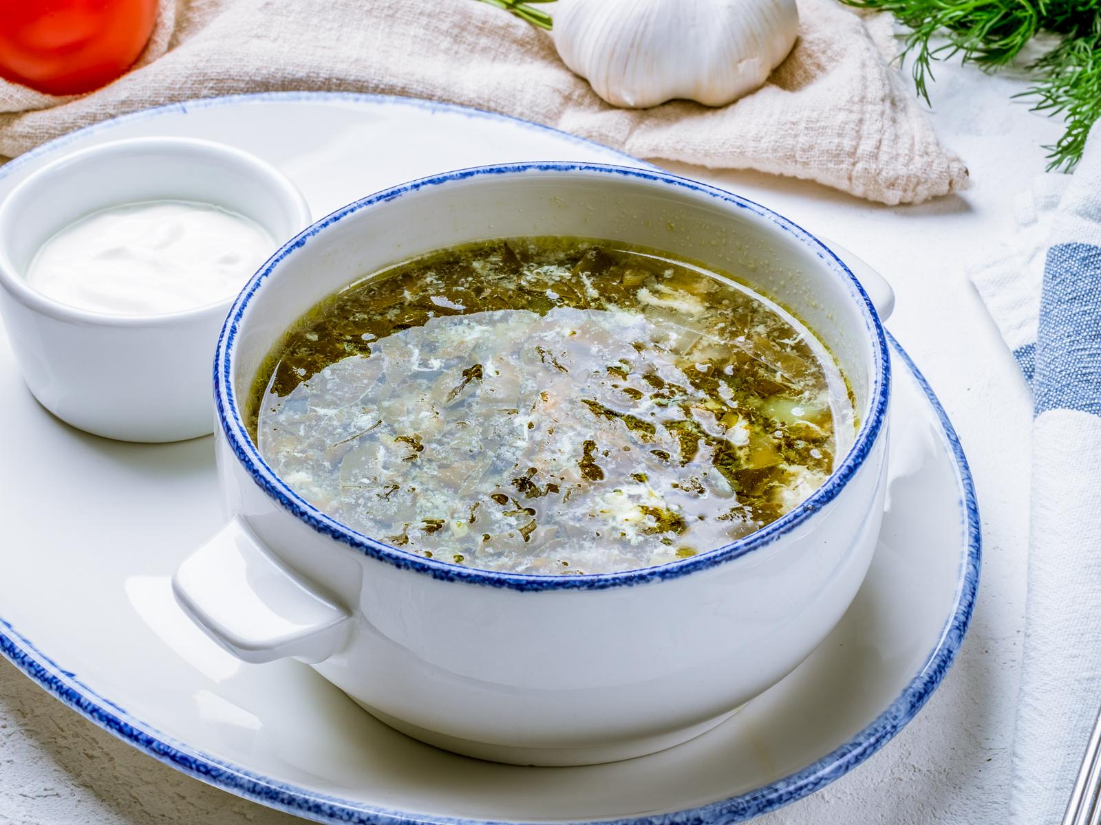 Суп похудейник щавелевый