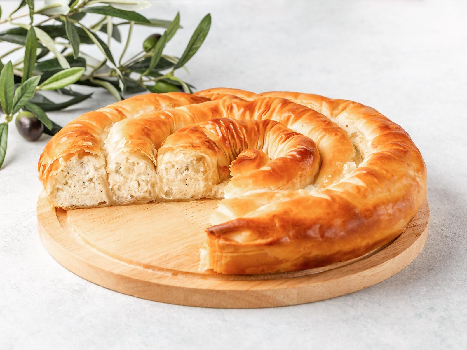 Пирог Тиропита улитка
