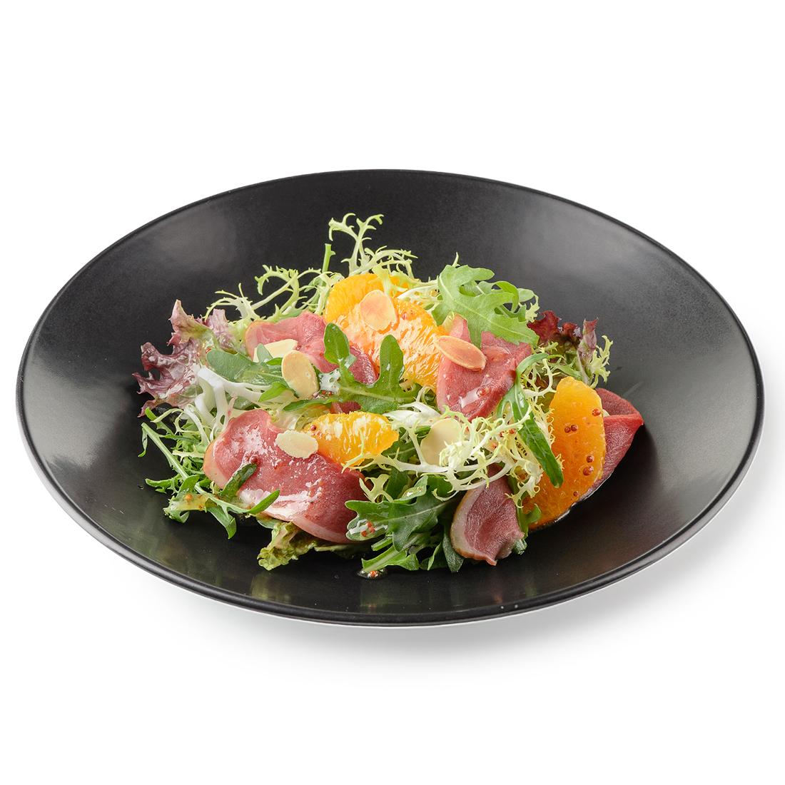 Салат с копченой утиной грудкой и апельсинами