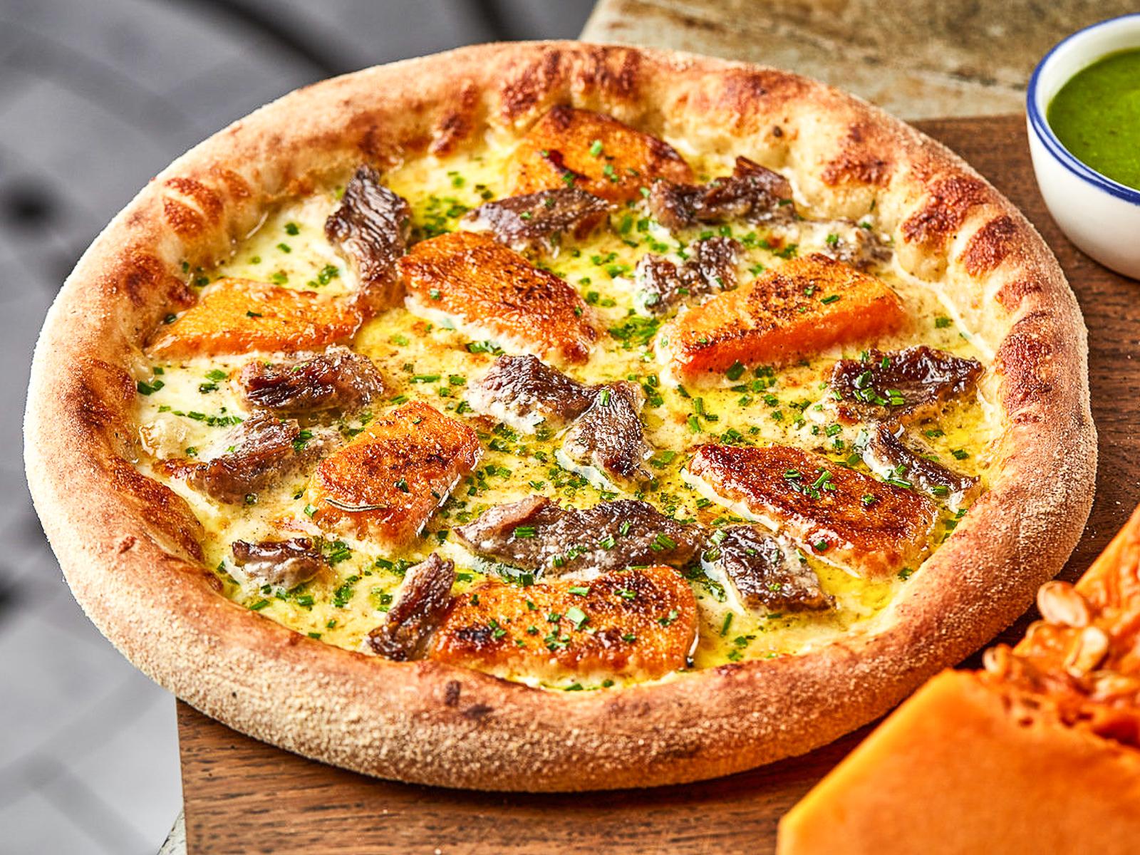 Пицца Телячьи щеки и тыква