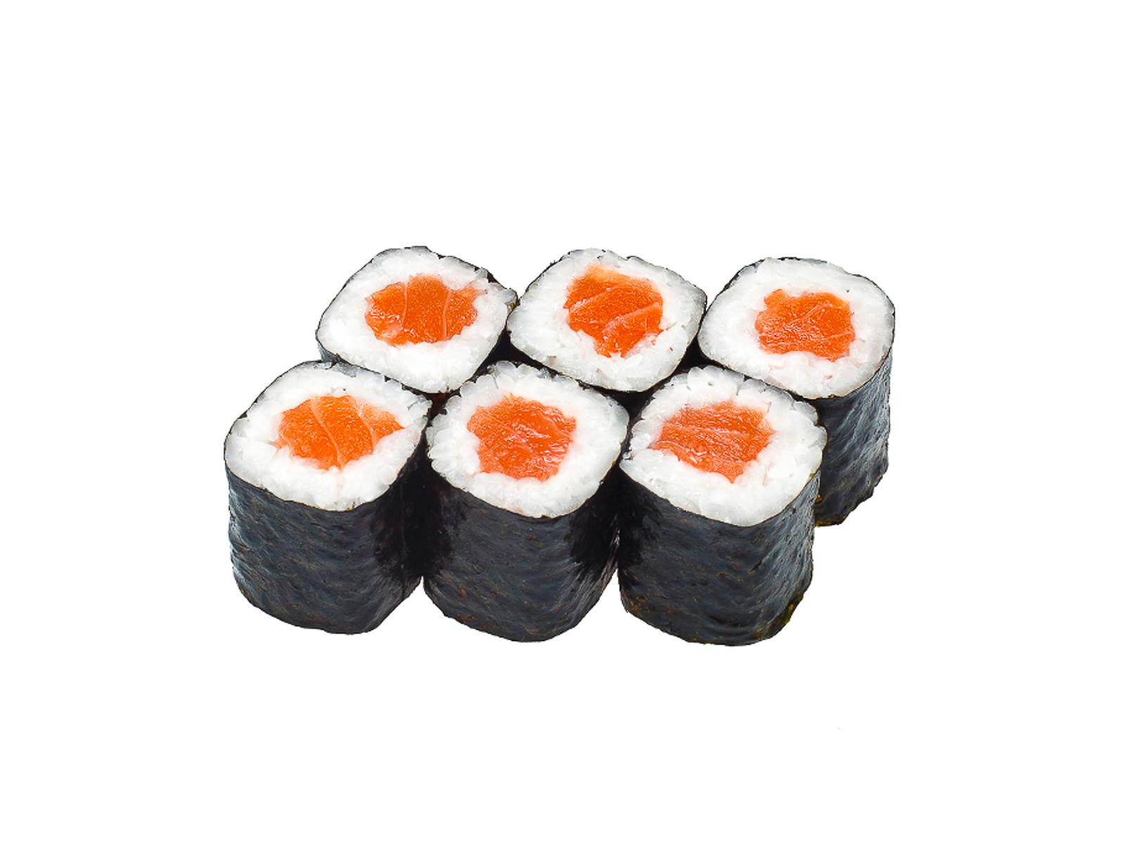 Маленький ролл с копченым лососем