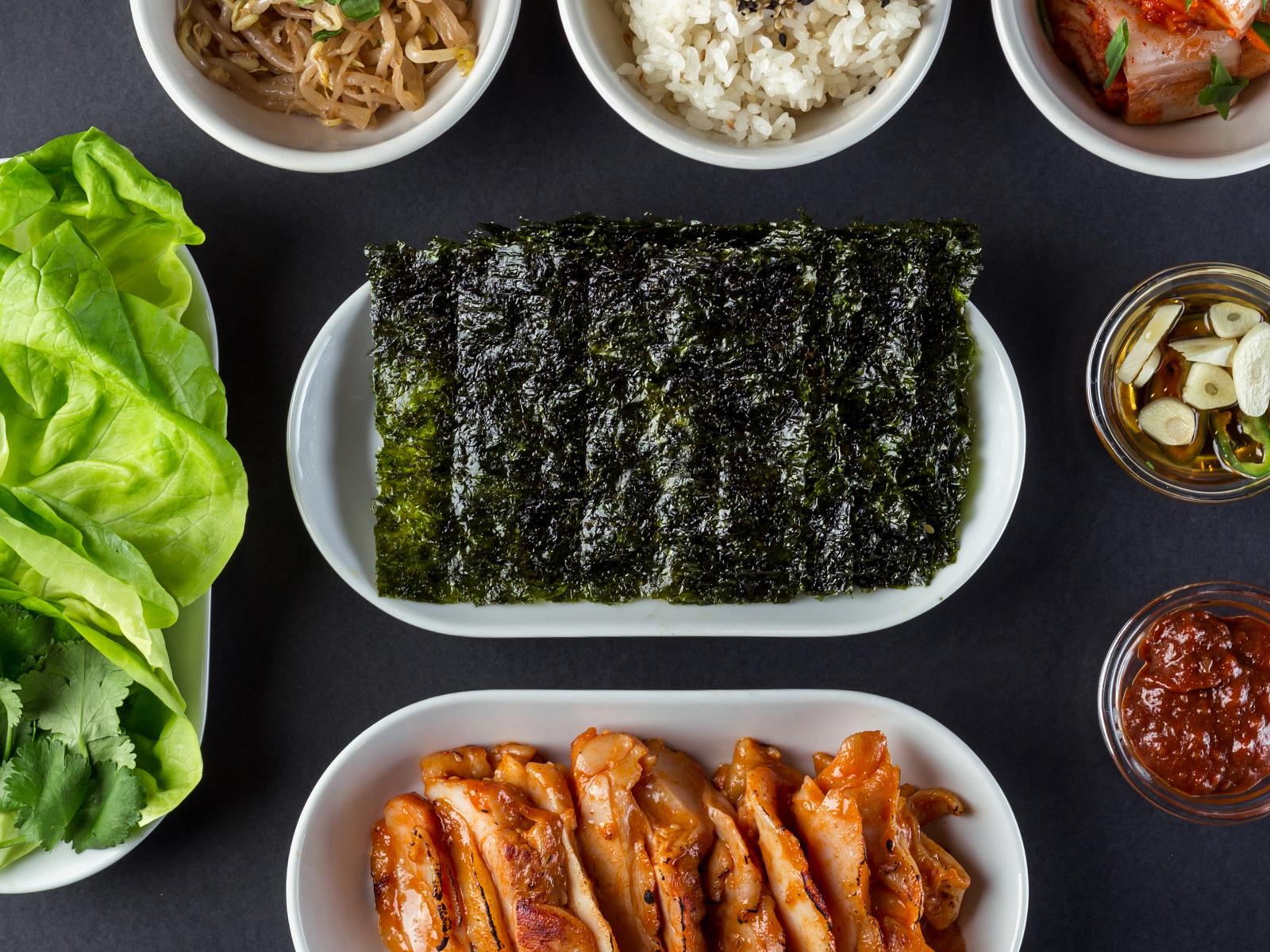 Корейское барбекю с курицей