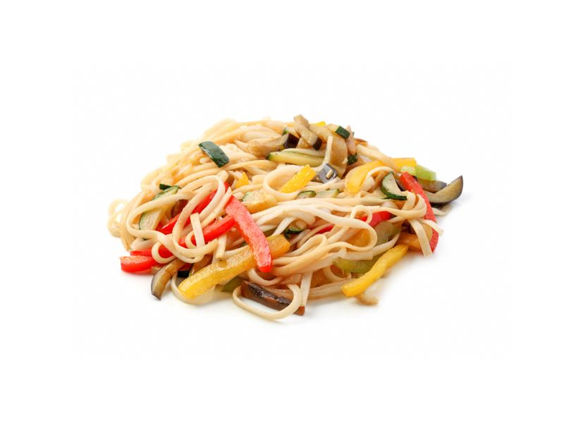 Жареная лапша Удон с морепродуктами и овощами