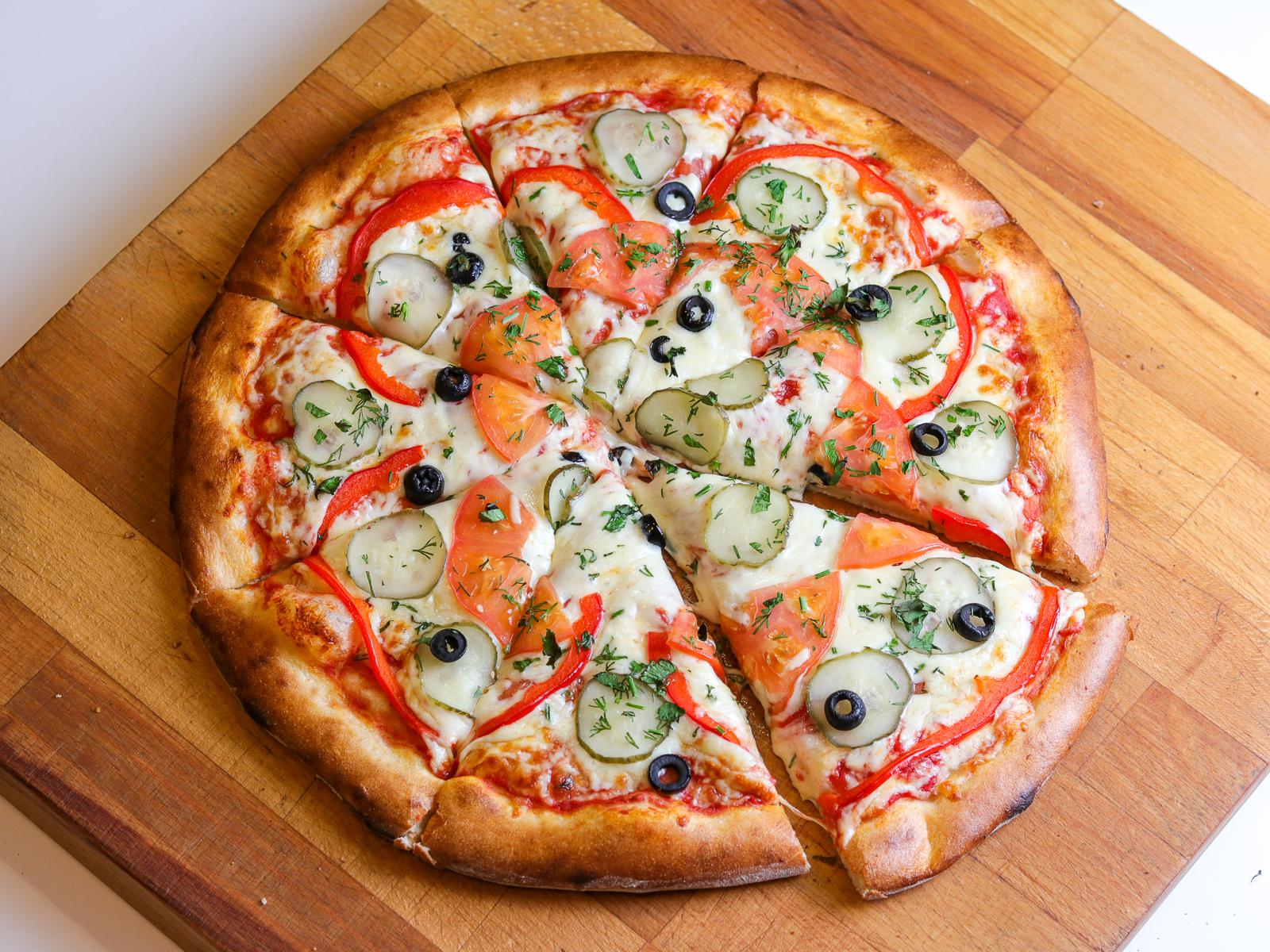 Пицца Овощная на пышном тесте