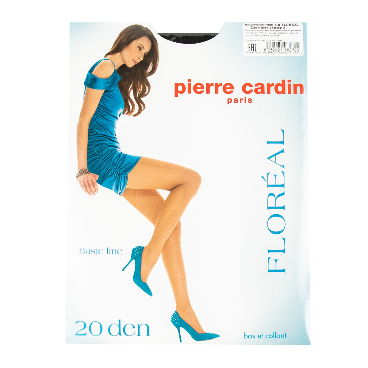 Pierre Cardin Floreal Nero 3 20 den