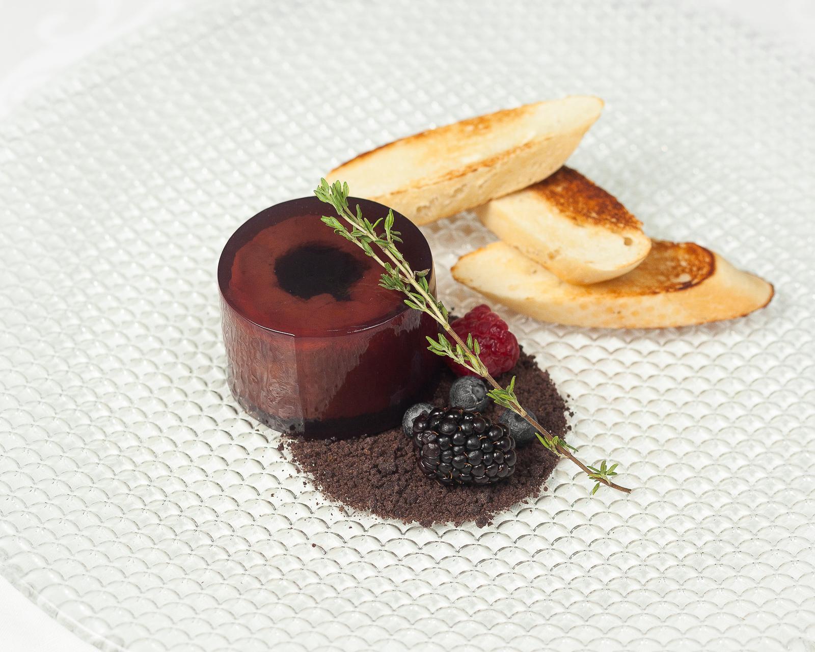 Террин из фуа гра с желе из ягод