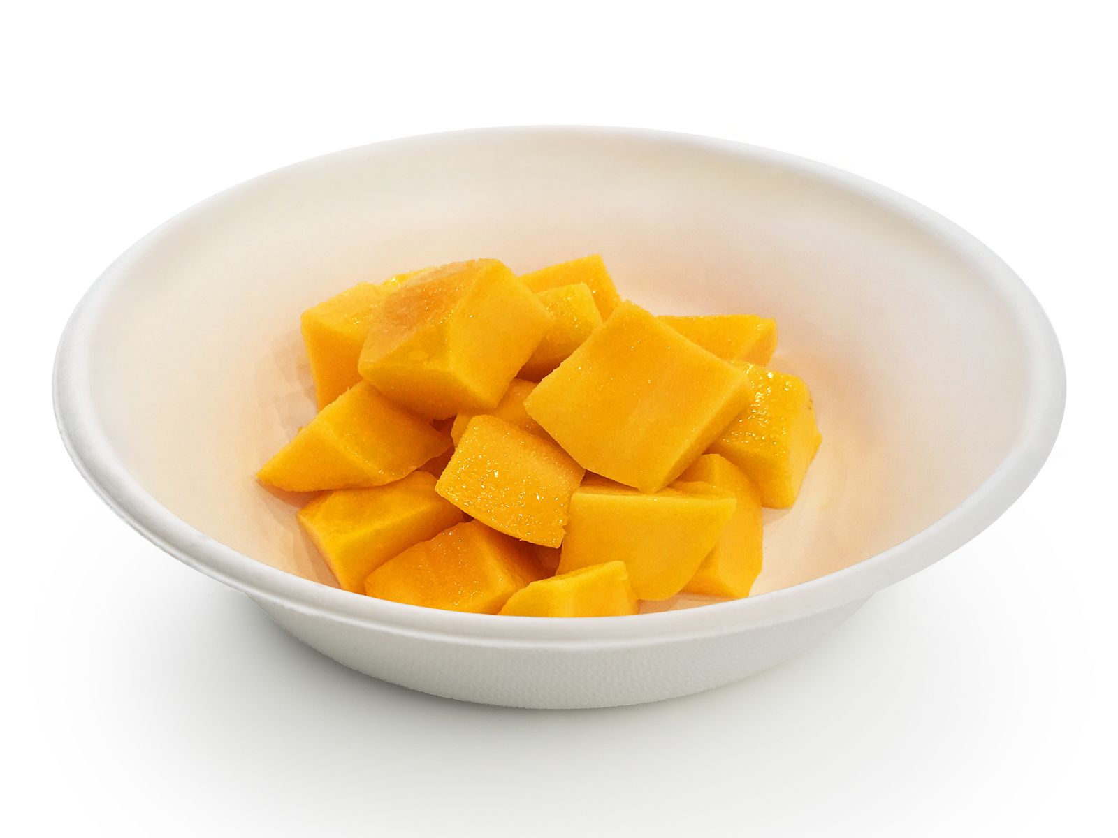 Тарелка спелого манго