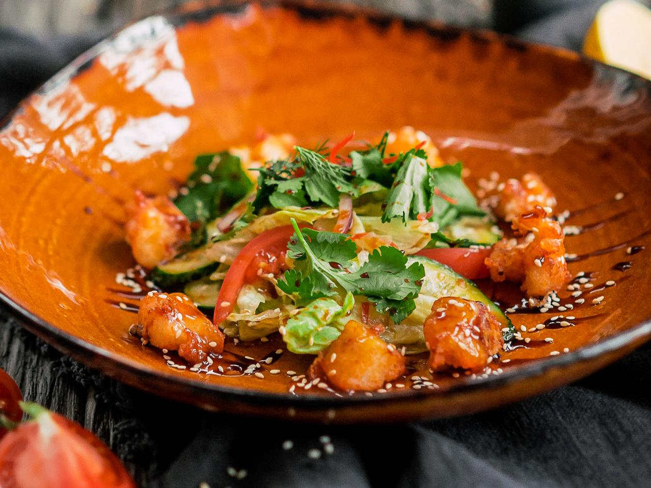 Салат с жареным судаком по-Китайски