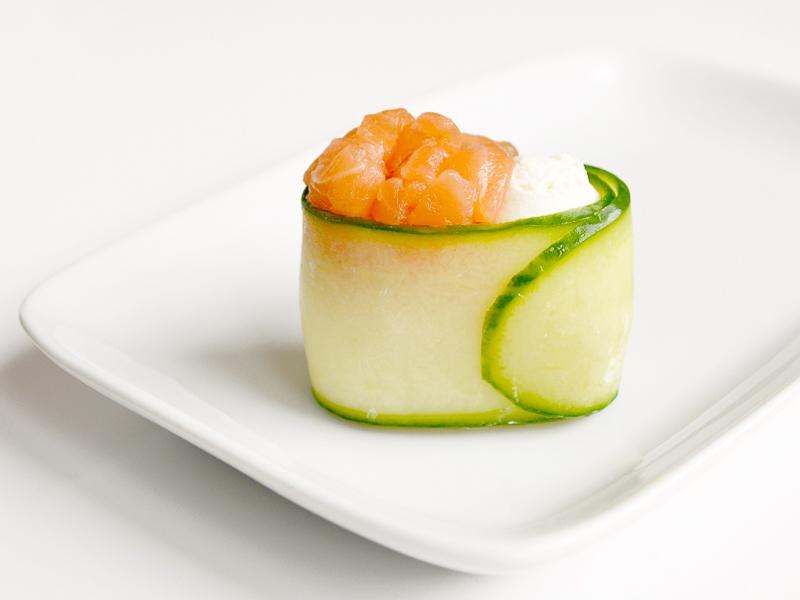 Капа гункан с лососем