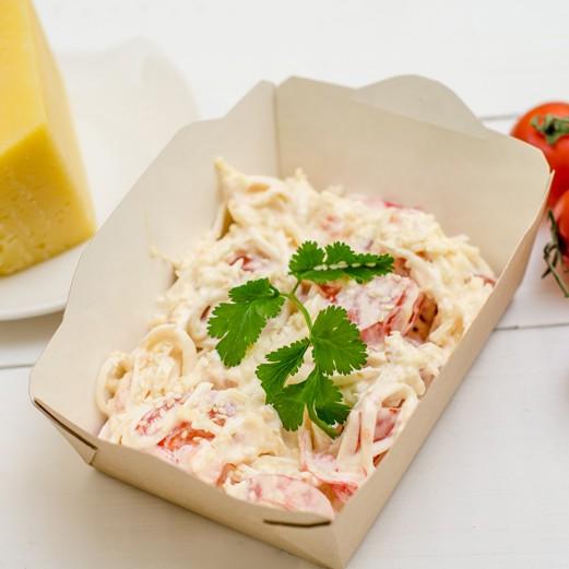 Сырный салат со снежным крабом