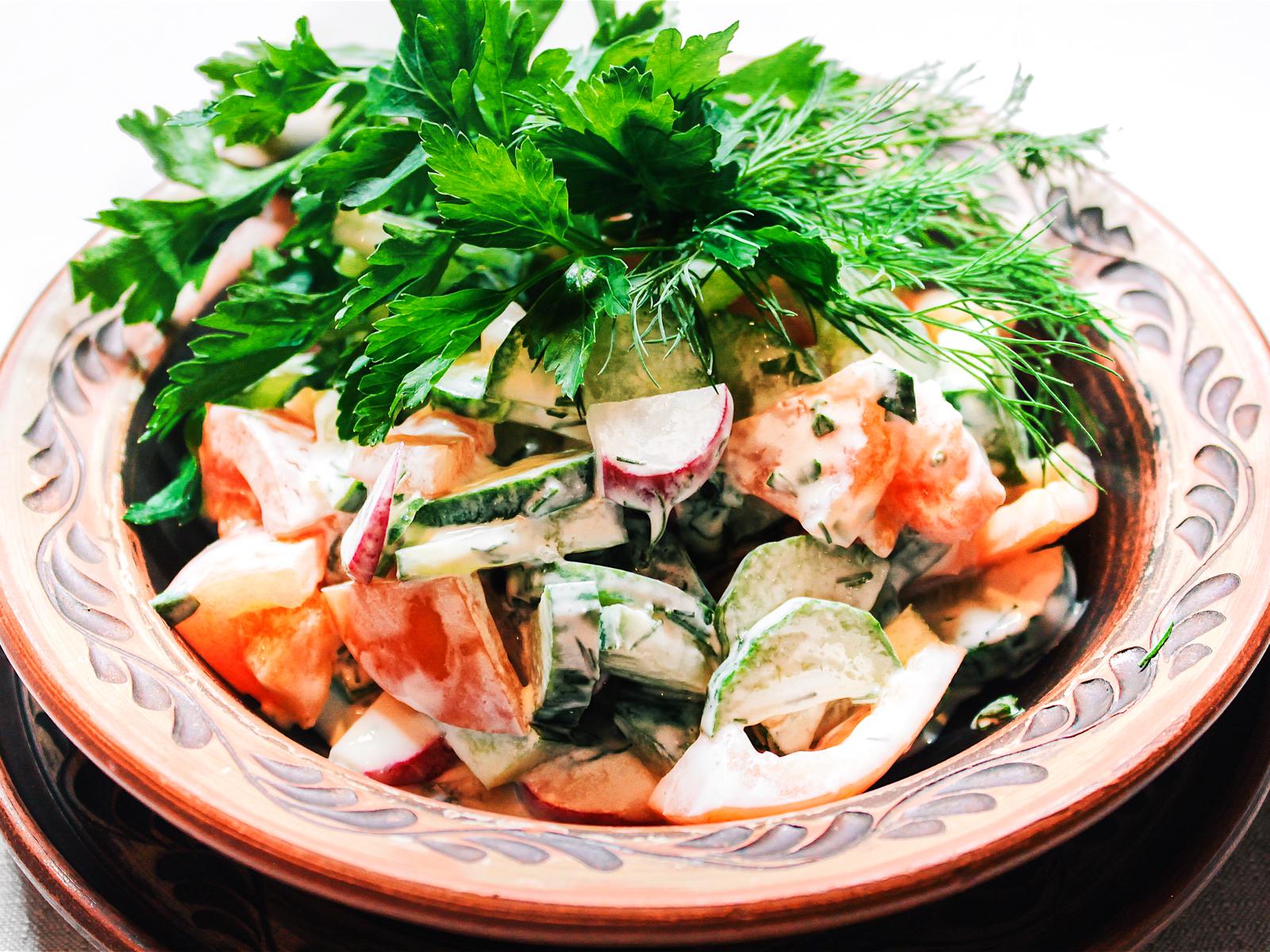 Овощной салат Четыре сезона