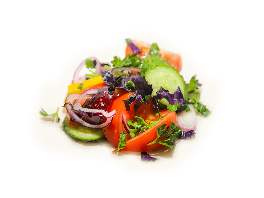Салат по грузински из свежих овощей