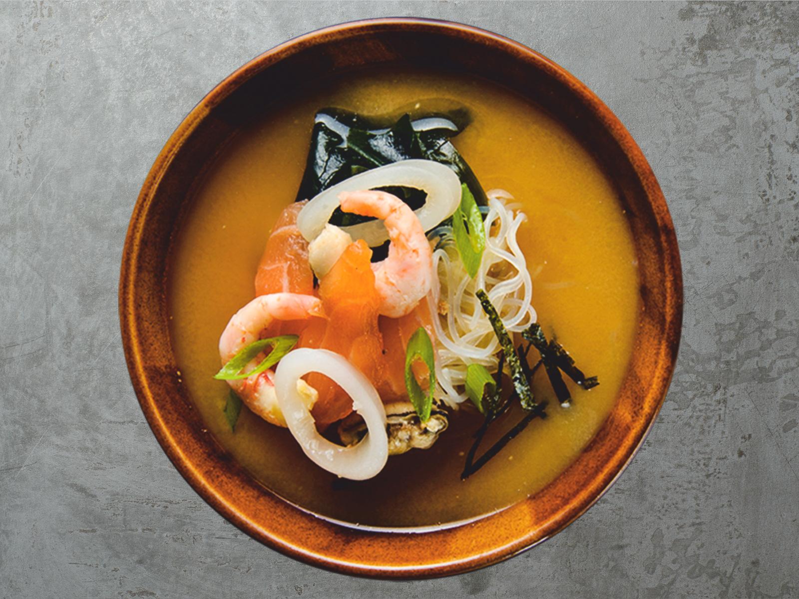 Мисо-суп с морепродуктами