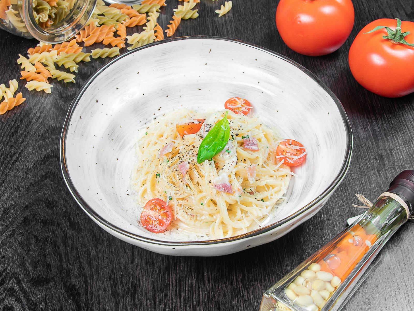 Спагетти Карбонара-Болоньезе