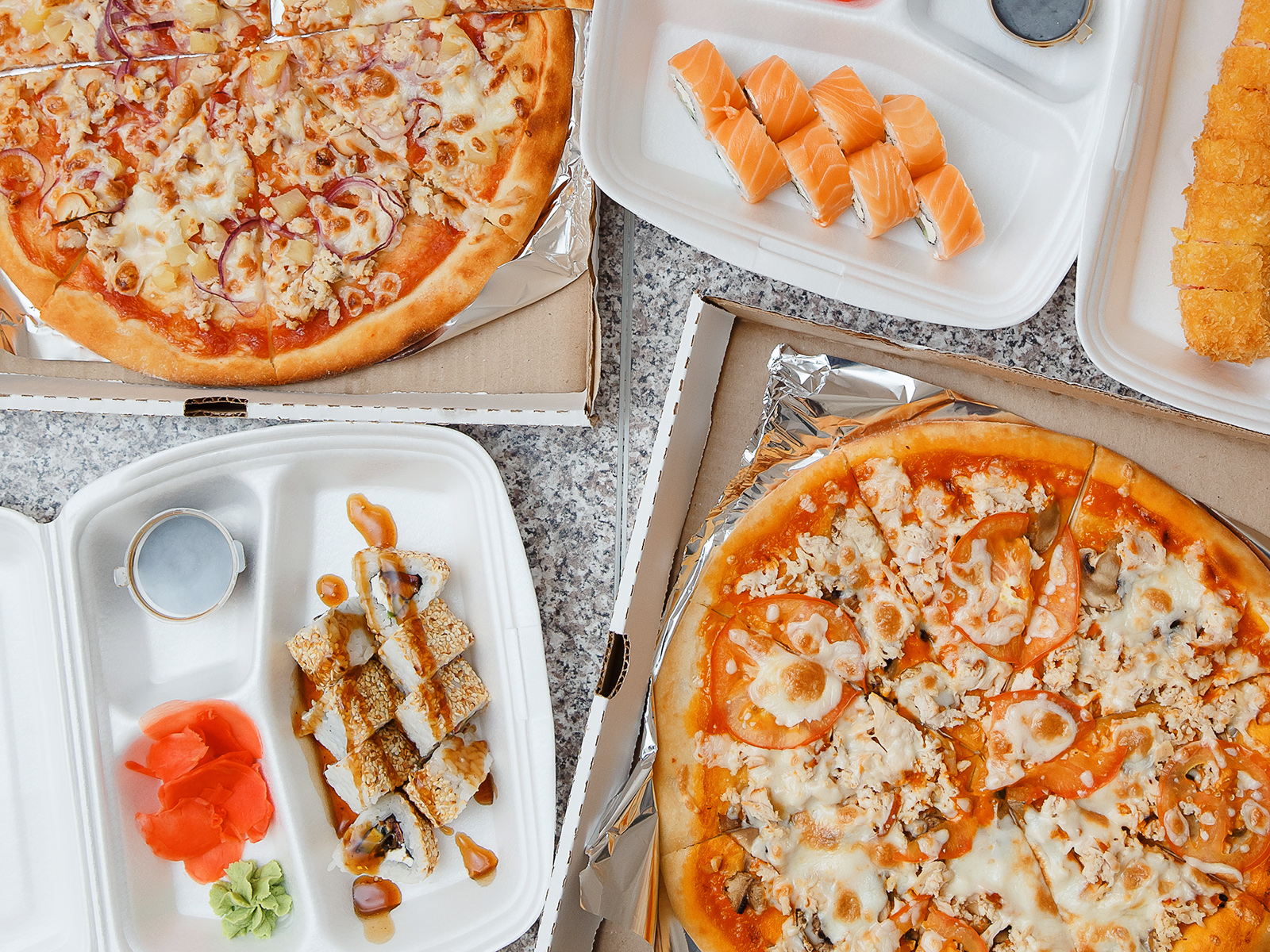 Суши и пицца